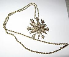 9K GOLD Pin & Pendent -Pearls- 9K Gold Chain, about 1900! Outstanding! Not SCRAP