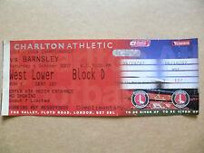 Ticket- CHARLTON ATHLETIC v BURNLEY, Coca Cola Championship, 6 Oct 2007 (Unused)