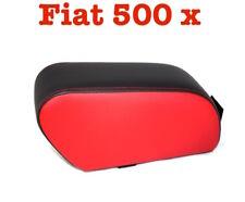Bracciolo Fiat 500 X Pelle Bicolor Nero e rosso sartoriale Armrest Armlehne TOP
