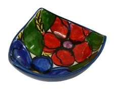 3 Pointed Tapas Dish Bowl 12 x 5 cm Traditional Spanish Handmade Ceramic Pottery
