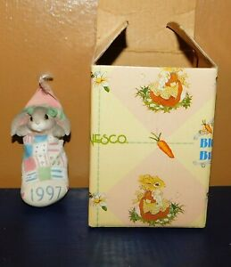 Enesco My Blushing Bunnies Girl In Stocking Ornament Dated 1997