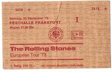 The Rolling Stones    In Concert 1973    Ticket / Konzertkarte / Eintrittskarte