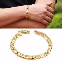 Men Punk Cool Stainless Steel Chain Cuff Bracelet Link Bangle Women Wristband