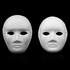 Newly Style Unpainted DIY plain/blank version Paper Pulp MALE and FEMALE Mask