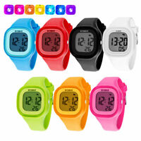 SYNOKE Men Date Fashion LED Digital 50M Waterproof Stopwatch Sport Watch Girls