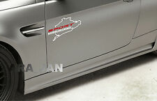 Vinyl Decal Sticker SPORT NURBURGRING racing sport car emblem logo WHITE/RED