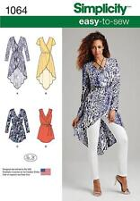 Misses Easy to Sew Wrap Tie Dress Tunic Simplicity Sewing Pattern 1064 R5 14-22
