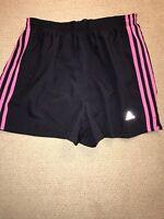 Women's Adidas Running Pink Shorts Medium M Lined Briefs