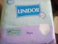 Pannoloni per adulti pants super misura grande Linidor per incontinenza