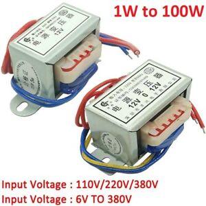 1W-100W Power Transformer Input AC 220V/380V Output AC 6V/9V To 380V Single/Dual