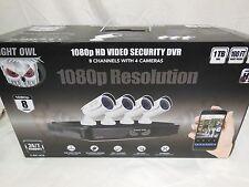 New Night Owl 8-Channel Hd Dvr w/ 1Tb Hdd, 4 1080p Cameras 100' Night Vision