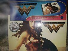 NIP Wonder Woman Supply / Small Storage Box Magnetic Closure Sturdy Fiber-Board