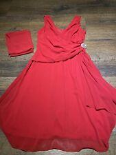 Damen Abendkleid Rot Gr. L