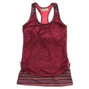 Athleta Royal Pigeon 2 Layer Tank Top Womens Small Red Athletic Yoga Gym
