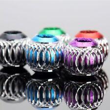 20 un. X 7.5 mm Mezclado Color Redonda Europea bolas perlas encajan pulsera con dijes de metal