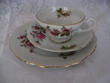 Tea Coffee Demitasse Set - Cup, Saucer and Plate (006)