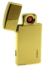 Cigarette Lighter - Silver Match Edgware USB Gold - NEW