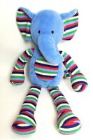 "Jellycat Blue Stripe Elephant  14"" Plush Soft Toy Comforter Rattle Crinkle.1850"