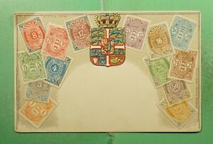 DR WHO DENMARK STAMP UNUSED POSTCARD COAT OF ARMS  g18912
