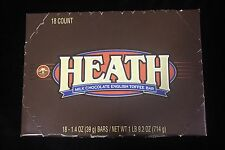 Heath Milk Chocolate English Toffee Bar Candy Bars 18 - 1.4 Oz BARS