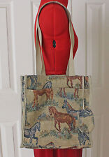 Tapestry Horse Tote Handbag Purse Western Equestrian