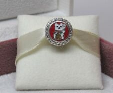 W/Box Pandora Lucky Cat Double Sided Luck Charm ENG792016CZ_23 Canada Excl.