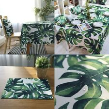 Table Cloth Waterproof Oilproof Tablecloth Green Printed Table Cover 60*60 cm