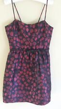 Chelsea & Violet Dress Medium Black Red Shimmer Bow Holiday Party New With Tags