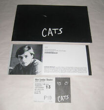 Vintage CATS Programme From 1983 With Ticket Stub New London Threatre Drury Lane