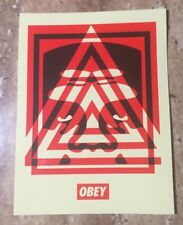 """OBEY Giant Shepard Fairey """"Pyramid Top Icon"""" Red Edition Limited Edition Sticker"""