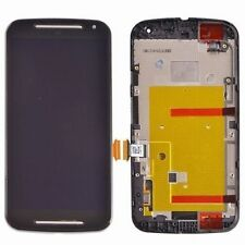 DISPLAY +TOUCH SCREEN per MOTOROLA MOTO G2 XT1072 +COVER FRAME VETRO NERO nuovo