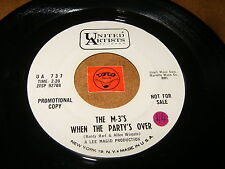THE M-3'S - WHEN THE PARTY'S OVER - MAGIC KISS  / LISTEN - SOUL GARAGE POPCORN