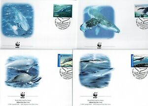 AUSTRALIA 2006 WWF WHALES DOWN UNDER  set of 4 FDC