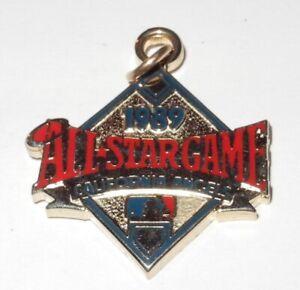 1989 Baseball All Star Game Press Pin California Angels Stadium Button Charm v2