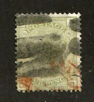 Great Britain stamp #70,used, plate 16,  Queen Victoria, SCV $325