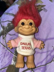 "Vintage Russ Berrie 5"" Red Hair Trolls Doll Dallas Texas"