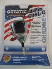 Astatic 636L-C Noise Cancelling CB Radio Microphone for 4-Pin Radios - CHROME