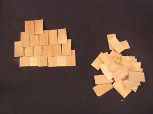 Shingles Rectangular  100 pc/pkg dollhouse miniature #7004 roofing  1/12 scale
