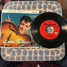 COUNTRY 45 RPM RECORD - JIMMIE RODGERS - ROULETTE EPR-1-303