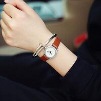 New Leather Women Vintage  Strap Small Dial Watch Sport Quartz Ladies Slim Watch