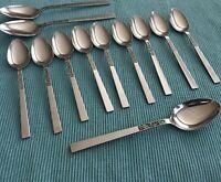 Stanley Roberts Dorette Lot of 12 Stainless Steel Flatware Soup Teaspoons