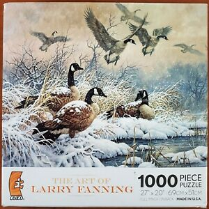 NEW Sealed - ceaco WINTER RETREAT CANADA GEESE 1000 Piece Jigsaw Puzzle Fanning