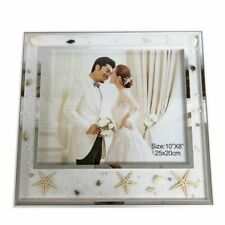 "8 X 10"" Silver Framed Beach Themed Photo Frame"