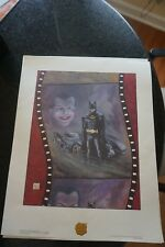 BATMAN 1989  SIGNED BOB KANE  2 LITHOS BOB KANE'S TRIBUTE TO BATMAN COA LE-SN