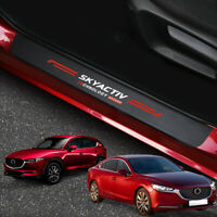 For Mazda 3 6 CX3 CX5 CX30 MX-5 Accessories Door Sill Scuff Plate Protector Trim