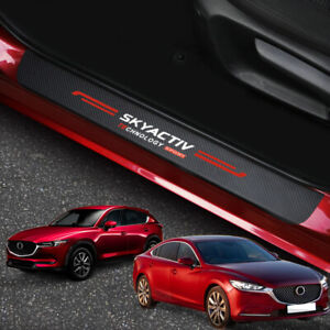For Mazda 3 6 CX3 CX5 CX30 MX-5 Accessories Door Sill Scuff Plate Protector Trim