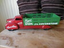 Vintage Wyandotte Stake Truck Advertising J. L. Coverstone Hauling Phone 6404
