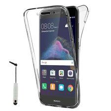"Etui Silicone Gel ultra 360° Avant et Arrière Huawei P8 Lite (2017) 5.2"" +Stylet"