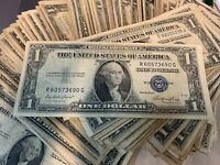 BULK Lot (50) - 1935 $1.00 Dollar US Note Silver Certificate Collection $50