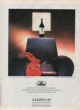 Publicité Advertising  1988  J. CALVET & Cie vin rouge